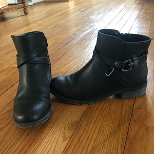 Croft & Barrow Ortholite Black Ankle Boots